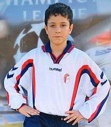 Un giovanissimo Giacomo Raspadori ai tempi delle giovanili del Progresso di Castel Maggiore
