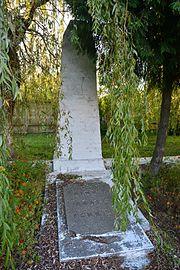 Rava-Ruska Lvivska Str. Boarding School Yard Brothery Grave of WW2 Warriors (YDS 8680).jpg