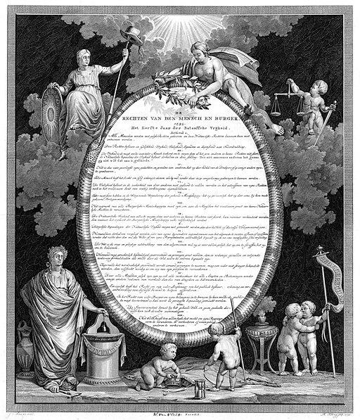 Rechten v.d. Mens en de Burger, afgekondigd 31-01-1795 in Den Haag