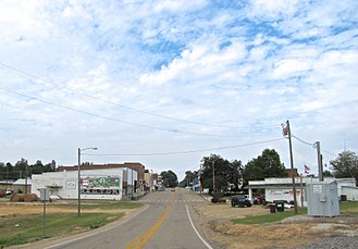 Arkansas Highway 90 - AR 90 (Main Street) in Rector, October 2017