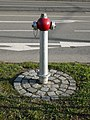 Red fire hydrant in Brno.jpg