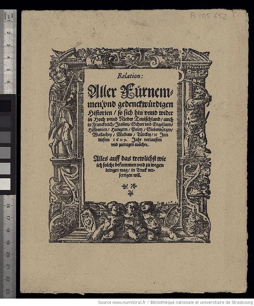 Relation Aller Fuernemmen und gedenckwuerdigen Historien (1609)