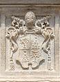 Relief CoA Alexandre VII pedestal Pulcino santa Maria sopra Minerva, Rome, Italy.jpg