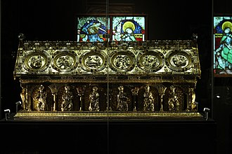 Florennes Abbey - Reliquary of St. Maurus, in Petschau Castle (Czech Republic)