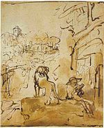 Rembrandt St. Jerome Reading in an Italian Landscape.jpg