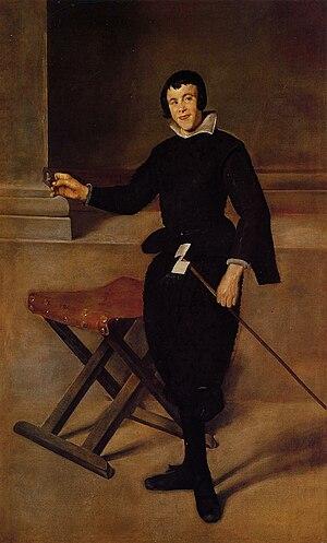 Retrato de bufón (Juan Calabazas, Calabacillas), possibly by Diego Velázquez.jpg
