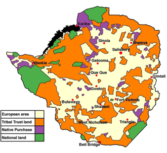 Southern Rhodesia - Land apportionment in Rhodesia in 1965