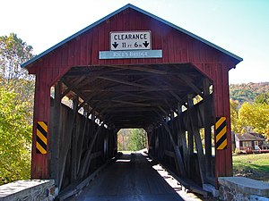 Rice Covered Bridge - Rice Covered Bridge, October 2010