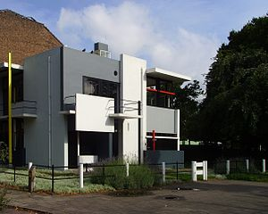 Architecture of the Netherlands - Rietveld Schröder House (1924), designed by Gerrit Rietveld.
