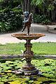 Rio de janeiro, jardim botanico, fontana 02, putto con delfino di verrocchio.JPG