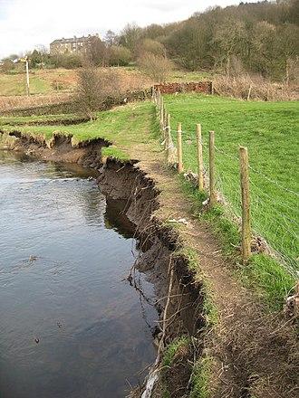 River bank failure - River erosion