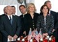 Robert M. Gates with Gail Kruzel (center) and Linda Davidson 2004.jpg