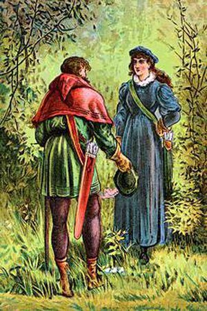 Maid Marian - Robin Hood and Maid Marian (poster, ca. 1880)