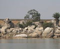 Rocky outcrop at Nagi Dam Bird Sanctuary.png
