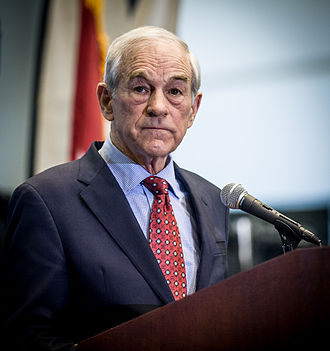 Ron Paul - Paul speaking at a rally at Lindenwood University in St. Charles, Missouri