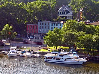 Rondout–West Strand Historic District - Rondout–West Strand waterfront seen from US 9W