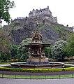 Ross Fountain and Edinburgh Castle.jpg