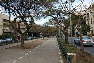 Rothschild Boulevard thoroughfare in Tel Aviv, Israel