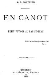 Adolphe-Basile Routhier: En canot