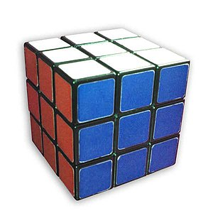 This is TheCoffee's Rubik's Cube in solved state.