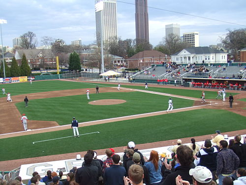 Russ Chandler Stadium during a game against Ohio State. Russ Chandler vs OSU.JPG