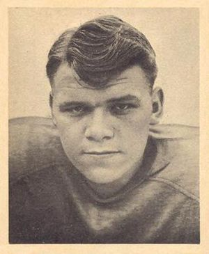 Russ Thomas - Thomas on a 1948 Bowman football card