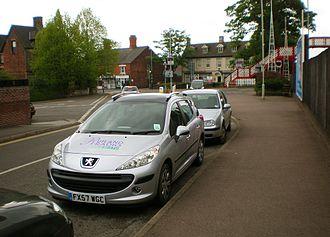 Rutland Radio - Rutland Radio Peugeot 207 SW radio car near the railway station