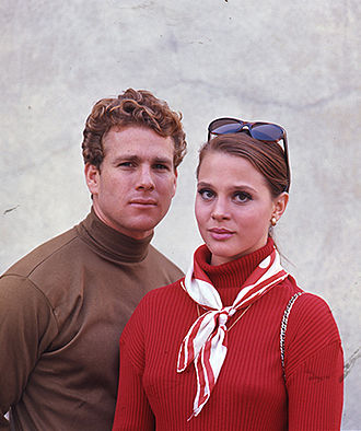 Leigh Taylor-Young - Ryan O'Neal with Taylor-Young in Peyton Place