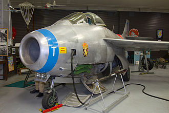 Saab 29 Tunnan - SAAB J 29F 'Tunnan' 29666/T on display at Soderhamn /F 15 Aviation Museum, Söderhamn Airport