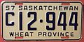 SASKATCHEWAN 1957 -COMMERCIAL VEHICLE LICENSE PLATE - Flickr - woody1778a.jpg