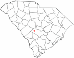 Location of Neeses, South Carolina