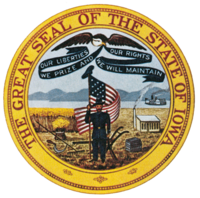 Iowa State seal - get unemployment from the state
