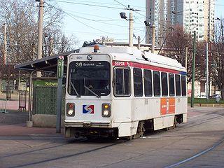 SEPTA Route 36 Philadelphia trolley line