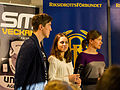 SM-veckan 2013 presskonferens 15 Calle Halfvarsson, Anna Haag, Sara Lindborg (Längdskidor) 1.jpg