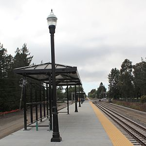 Rohnert Park station - The SMART Station in Rohnert Park, at Rohnert Park Expressway