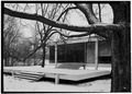 SOUTH ELEVATION DETAIL OF ENTRANCE - Edith Farnsworth House, 14520 River Road, Plano, Kendall County, IL HABS ILL,47-PLAN.V,1-5.tif