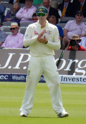 Steve Smith in the field during a Test match in July 2015