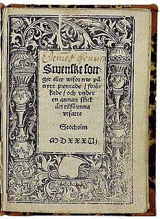 <i>Swenske songer eller wisor 1536</i>