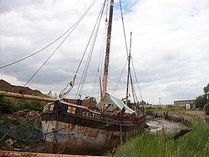MV Celtic (1903) - Celtic under restoration at Sittingbourne, Kent