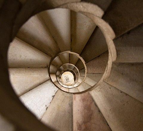 Sagrada Familia Spiral Staircase