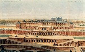 Chateau-Neuf de Saint-Germain-en-Laye - Château-Neuf in 1637, by Auguste Alexandre Guillaumot (1815–1892) (Gallica)