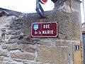 Saint-Germain-sur-l'Arbresle - Rue de la Mairie (plaque).jpg