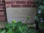 Saint Anthony Catholic Church (Temperance, MI) - exterior, cornerstone.jpg