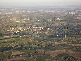 An aerial view of Saint-Christol