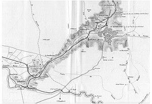 Saint-Étienne to Andrézieux Railway - Carte du chemin de fer Saint-Étienne - Andrézieux (1837)
