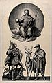Saint George and Saint Hubert of Tongres. Lithograph by J.G. Wellcome V0033622.jpg