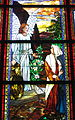 Saint Matthew the Apostle Church (Gahanna, Ohio) - stained glass, Angel with the women at the tomb - detail, Angel & the women.JPG