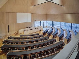 Grand Council of Vaud - The new assembly room of the Grand Council of Vaud, inaugurated in 2017.