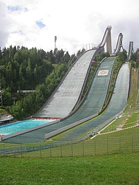 Salpausselkä ski jumping hill in summer.JPG
