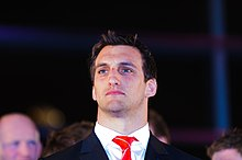 Description de l'image  Sam Warburton Welsh captain. Wales Grand Slam Celebration, Senedd 19 March 2012.jpg.